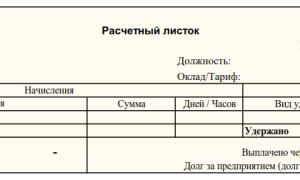 Расчетные сведения о работе осужденных бланк