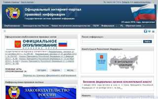 Портал правовой информации вологодской