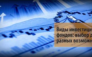 Понятие и виды инвестиционных фондов