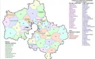 Состав муниципальных образований в московской области